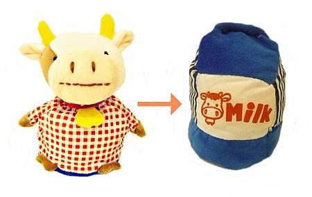 動物變變變-小牛娃娃