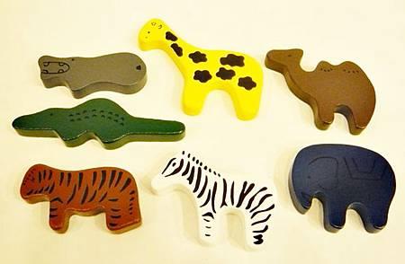 益智綜合遊戲箱-動物鑲嵌拼圖(小動物積木)