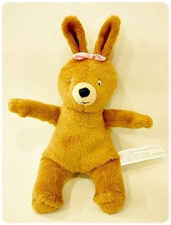 好安靜的書玩偶組-小兔