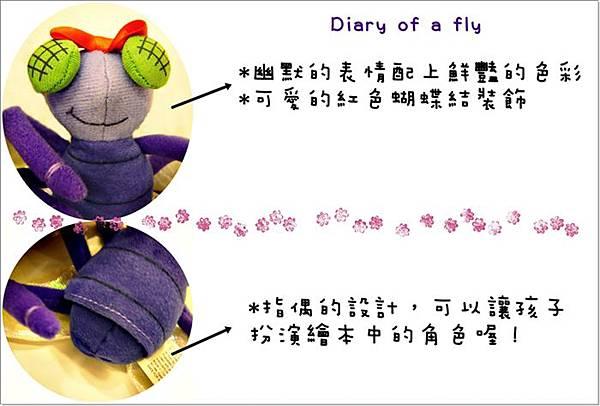 蚯蚓的日記玩偶組-蒼蠅指偶