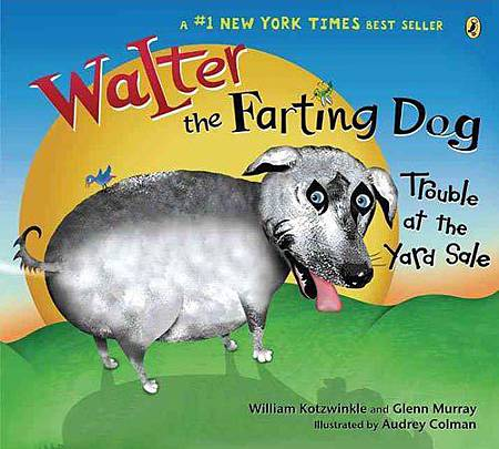 Walter the farting dog!Trouble at the yard sale