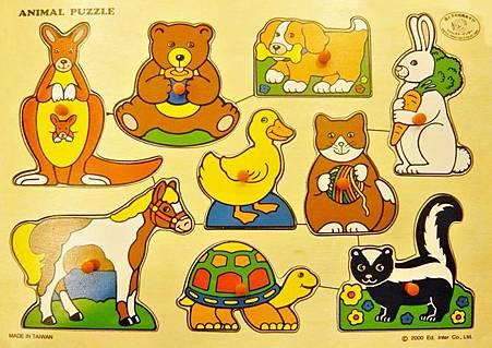動物木質拼圖