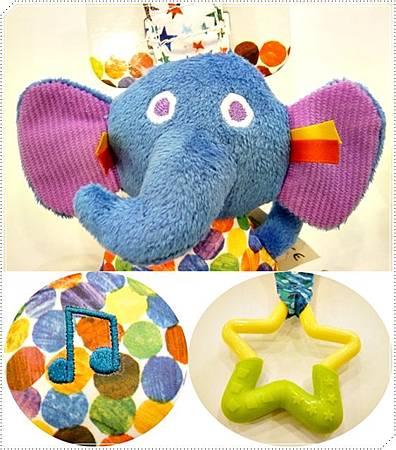 大象音樂吊掛玩具