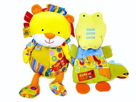 獅子玩偶+鱷魚安撫巾