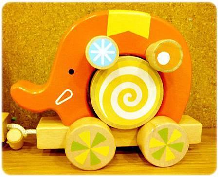 大象積木手拉車