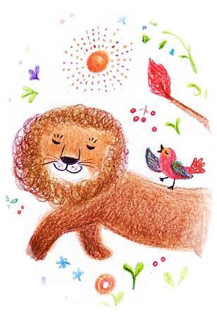 大獅子和小紅鳥