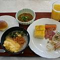 第一餐早餐,餐餐都有魚