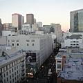 11樓的窗外景色,有名的梅西百貨在前方