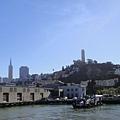 在要去惡魔島的船上看舊金山