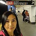 我一個人搭地鐵耶,是到了紐約一星期後才敢做的事
