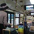 神戶觀光巴士,有車掌小姐在車上售票跟介紹