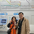搭火車回去京都啦~
