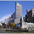 下城區,從船上往曼哈頓島上看