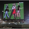 首爾站外的大型廣告