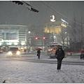 雪越下越大,沒帶傘的我們就這麼一路淋雪回家