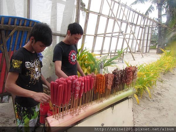長灘島10元披索串燒好好吃(三號碼頭)