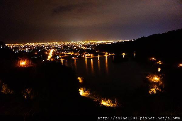 宜蘭梅花湖夜景 三清宮