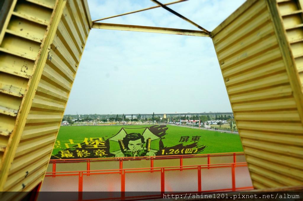 農曆春節景點 屏東熱帶農業博覽會  惡靈古堡. 蜜拉喬娃維琪彩繪稻田