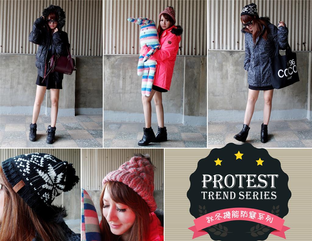 Protest秋冬機能防寒外套+保暖帽-0-1