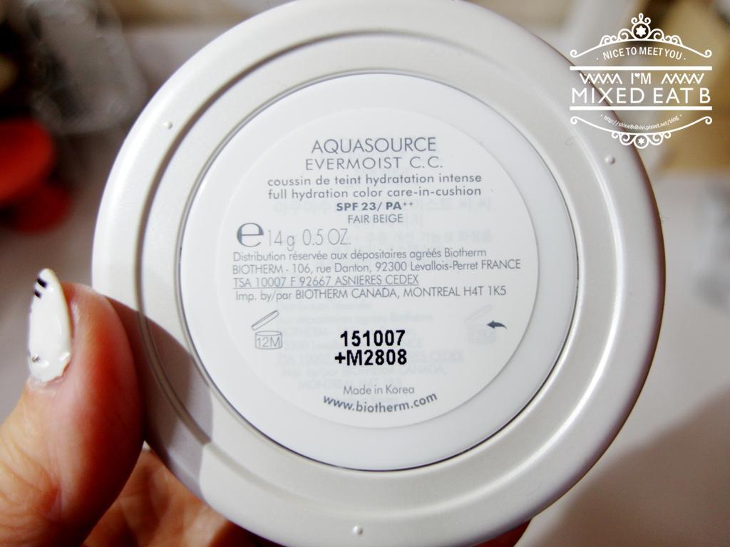 Biotherm碧兒泉 光透奇蹟水CC氣墊粉餅-1-14