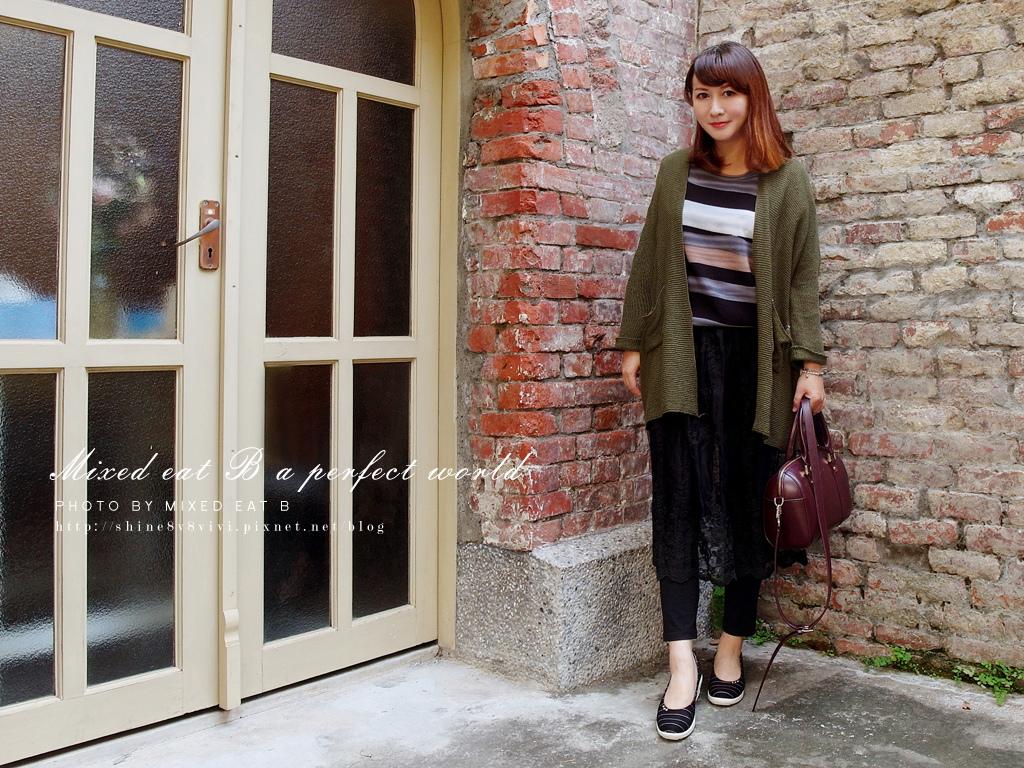 MonaSmile蒙娜微笑_鑽飾條紋厚底娃娃鞋-1-30