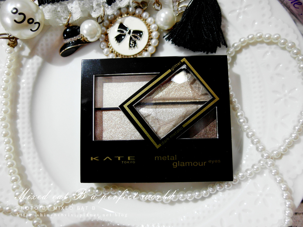 KATE奢光燦媚眼影盒+持久液體眼線筆-1-3