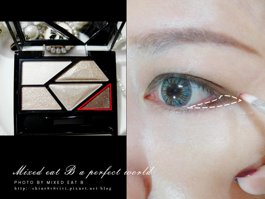 KATE奢光燦媚眼影盒+持久液體眼線筆-1-10