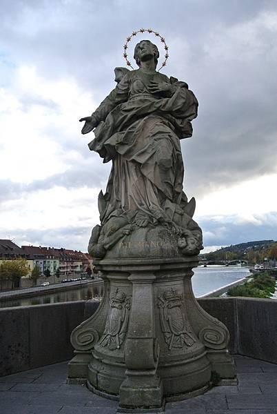 雕像9(Pat. Franconiae  聖母瑪利亞).JPG