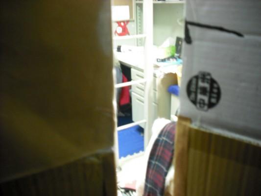 (英文之夜的衣櫥製作系列)從裡面望出去