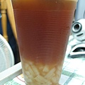 水蜜桃紅茶+椰果