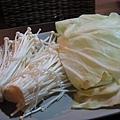 金針菇 v.s. 高麗菜