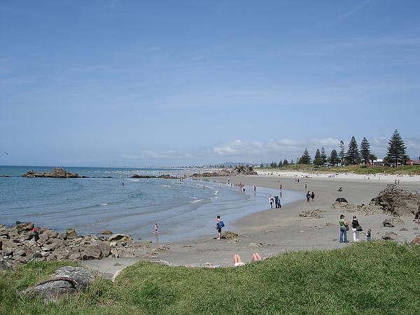 很長的海灘