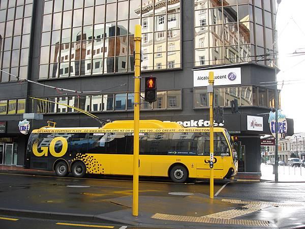 黃色的市區巴士很可愛