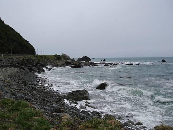 Kaikoura海岸。波濤洶湧