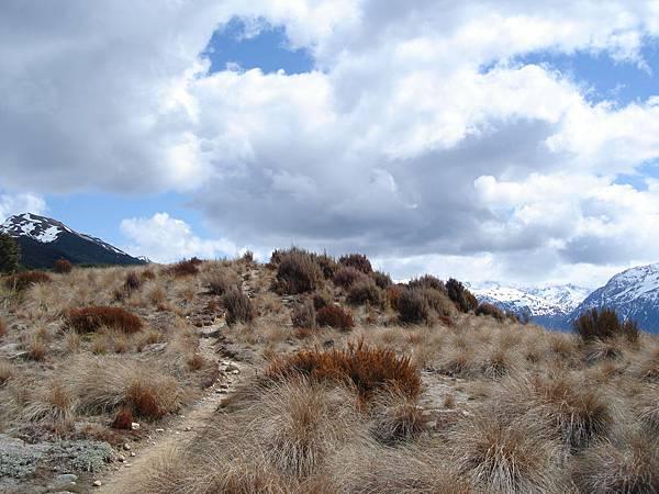 到山頂前的最後一個小坡道