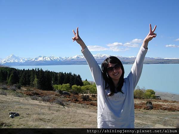 藍色牛奶湖不是誇大的 Lake Pukaki
