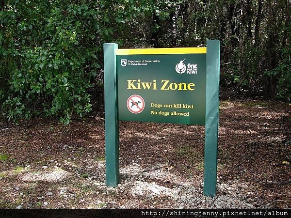 Kiwi Zone標示牌
