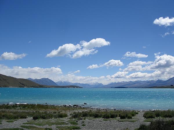 湖的顏色好美麗
