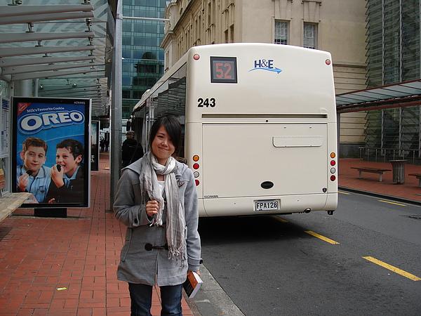 搭了公車到達Auckland City