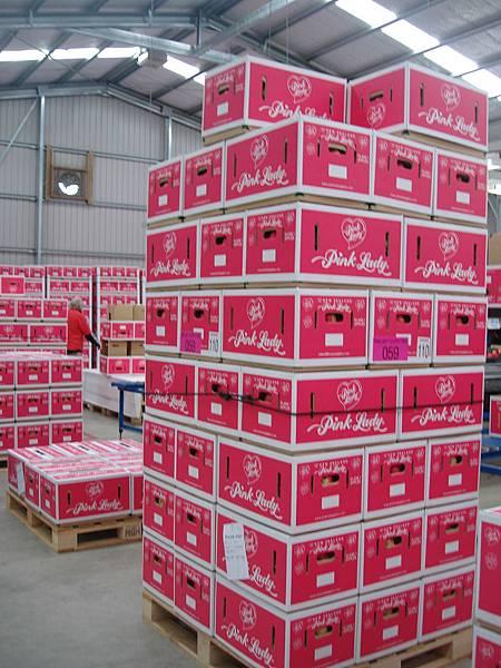 Pink Lady蘋果箱子也好粉