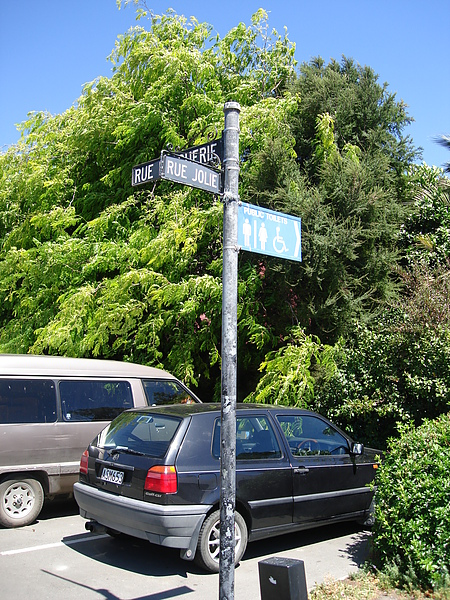 街道名字是法文