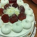 百越送的草莓蛋糕