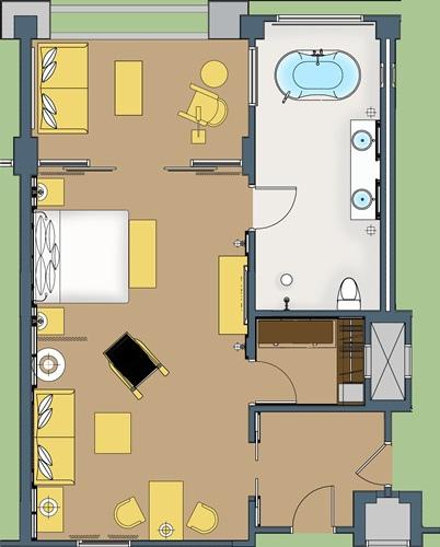 ST Regis Bali Suite Room Layout