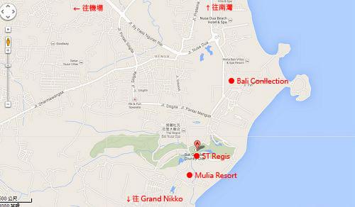 ST Regis Bali Map