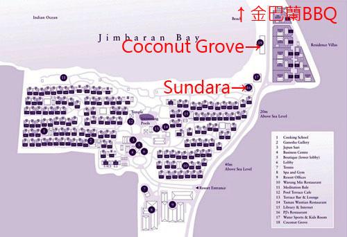 four Seasons Jimbaran Sundara map