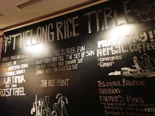 The Long Rice Table