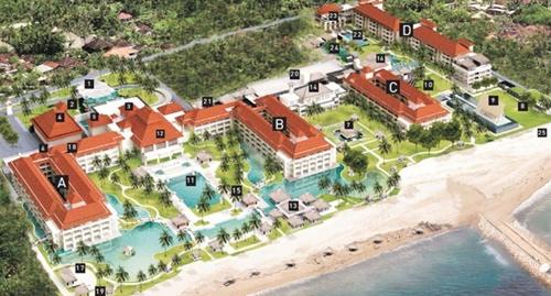 Conrad Bali Map