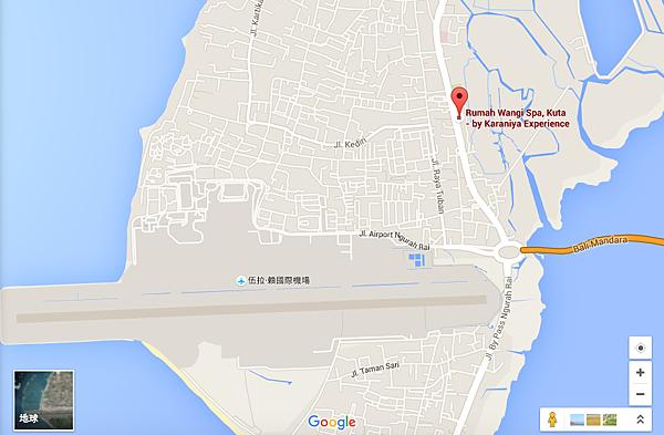 Rumah Wangi Spa Kuta 地理位置