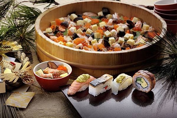 欣葉日本料理冬季限定正月喜散壽司跟越冬肉卷壽司及炙燒酪梨握壽司.jpg