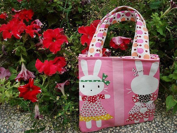 990326圈圈小兔兒童雙面提包[子供お買い物バッグ]2.jpg